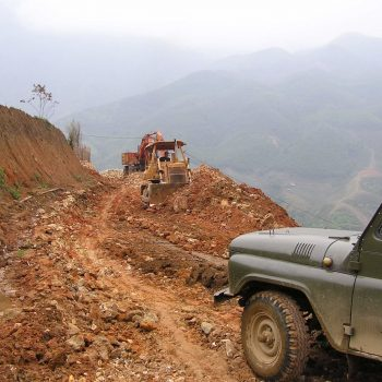 Road to Sapa when constructing Topas Ecolodge