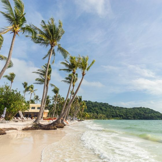 Bai Sao beach in Vietnam on Phu Quoc island