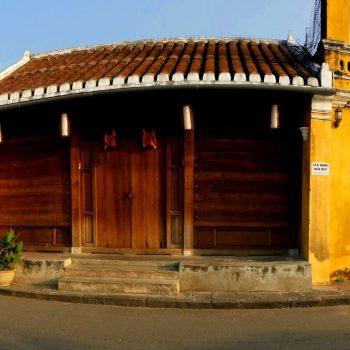 Face of an ancient UNESCO protectd building in Hoi An