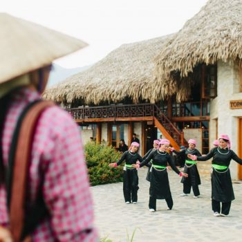 Local mountain minorities performing ancients dances