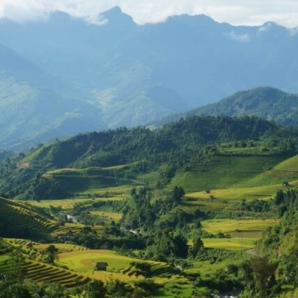 Beautiful scenery of Sapa mountains