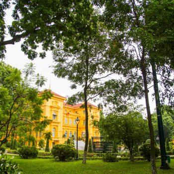 Det smukke præsident paladset i Hanoi