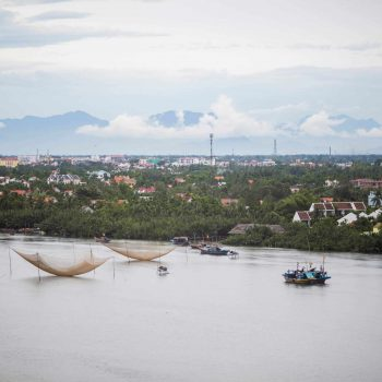 view of Hoi An River and city