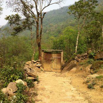 Village trail in Sapa beaten by buffalos