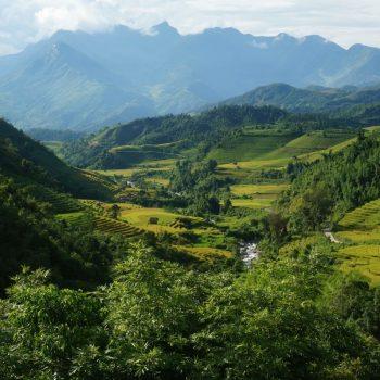 Scenery of beautiful Sapa mountains